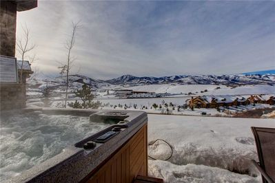 Private Hot Tub on Lower Level Deck