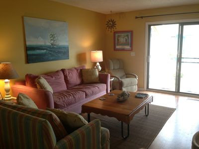 Queen sleeper/sofa plus a 46' LED TV with cable, Netflix, DVD and CD player.
