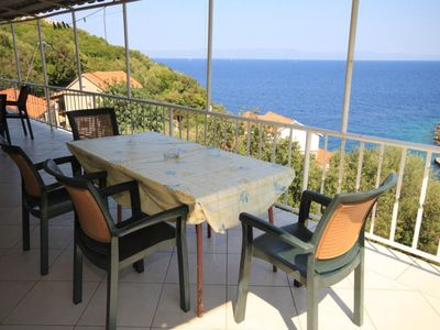 Photo for Two bedroom apartment with terrace and sea view Lučica (Lastovo)