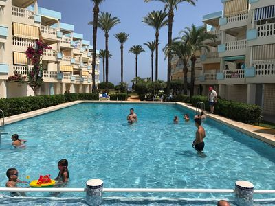 Photo for Holiday Beach right on the sea with 2 bedrooms, air conditioning, pool u. fantastic view