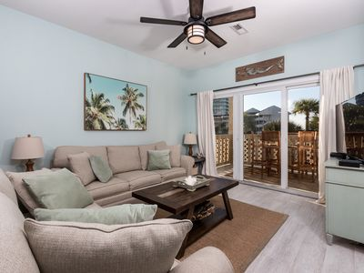 Photo for Condo W/ Partial Bay View! Onsite Fishing Dock, Across From Beach, Pool Onsite!