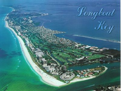 Aerial view of the south end of Longboat Key