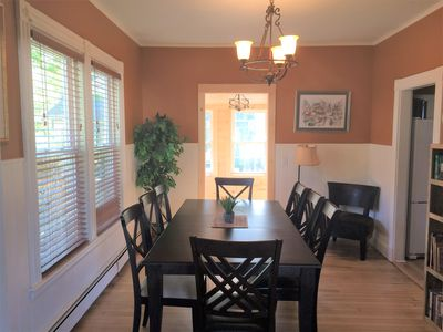 Share a meal with your friends and family--large dining room comfortably seats 8