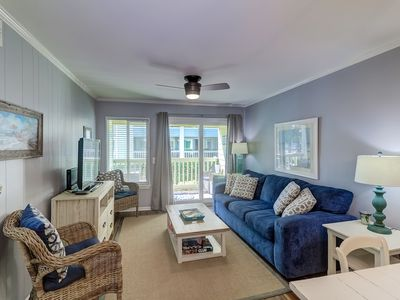 Photo for Modern First Floor Condo across the street from the beach: 2 Bedrooms, 2 Bathrooms