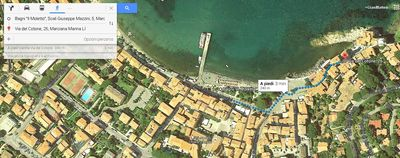 Photo for Large open plan studio on the sea of the ancient village of Marciana Marina
