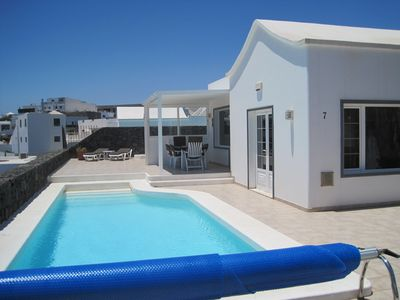 Photo for Stunning Luxury Villa with Heated Pool, WIFI, Internet TV & Panoramic Sea Views