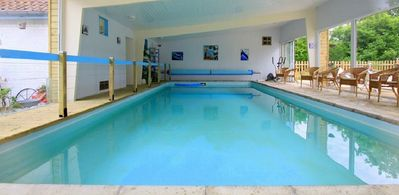 Photo for Gite La Terre 11 pers indoor and heated pool
