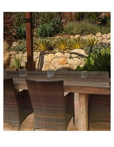 Enjoy dinner under the trellis in a comfortable yet beautifully rustic setting.