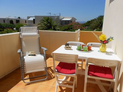 Photo for Bright apartment, sunny terrace, 200 m from the sea