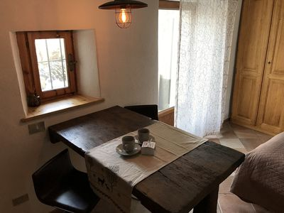 Photo for Intimacy, romantic studio apartment 2 km from Aosta