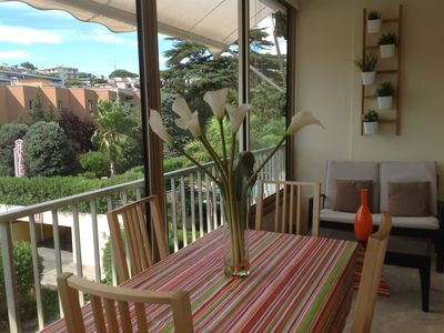 Photo for Cannes Apartment, Sleeps 3 with Air Con and WiFi