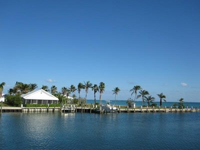 Photo for Canal front home with fantastic Sea of Abaco views.