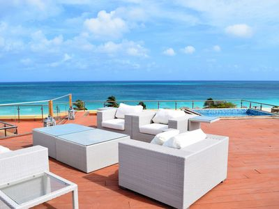 BEACHFRONT - EAGLE BEACH - OCEANIA RESORT - Regal Penthouse 2BR condo - BC351-2