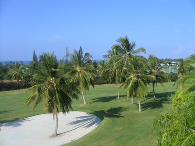 Your view from our lanai of the 8th hole of Kona Country Club golf course.