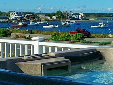 Bay side harbor view from the hot tub