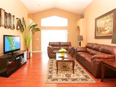 Living Room with 12-Foot Ceiling