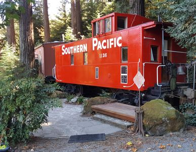 Caboose in the redwoods just outside of Cupertino - Cupertino