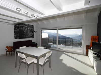 Photo for Stylishly furnished apartment in a residence with pool and dream view