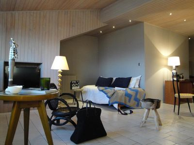 Photo for Surface area : about 46 m². Orientation : South. Living room with bed-settee 2 people