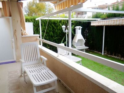 Photo for Nice ground floor 150m from the beach of Cambrils Bahia, garden terrasse.