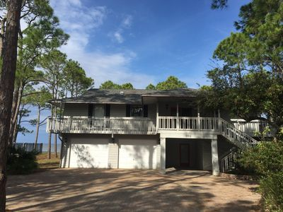 """Photo for PRIVATE pool & dock on the Apalachicola Bay!  You'll truly be """"At Ease"""" !"""
