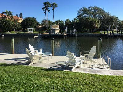 have a morning coffee or a afternoon cocktail on this beautiful dock...