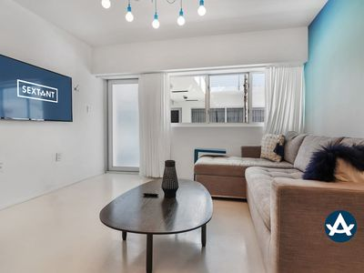 Sextant   Collins Ave 2 bed   Rooftop Pool #109   1 Block to Beach
