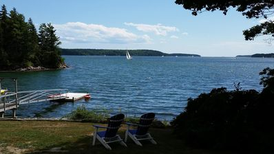Photo for Relaxing cottage with dramatic coastal Maine view!