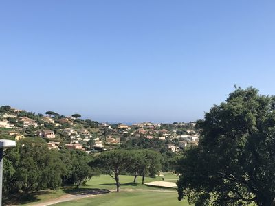 Photo for Mazet renovated view with sea and golf Sainte Maxime