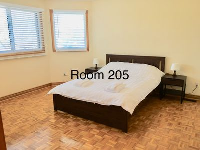 Photo for Near Pearson Airport Subway 1 Queen Bed with Private Bath-Room 205
