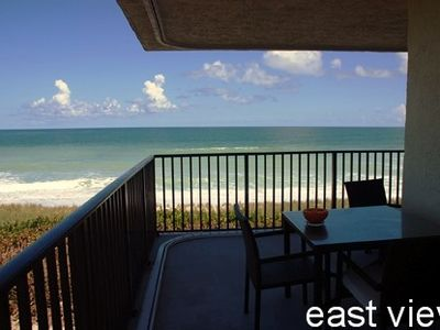 East view on 4th floor. Northeast location. Corner wrap. Outside dining table.