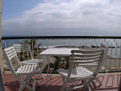 Photo for Apartment on a sandy beach  Balcony with sea view