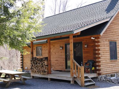 Photo for Salmon River Log Cabin - Rent the Best!