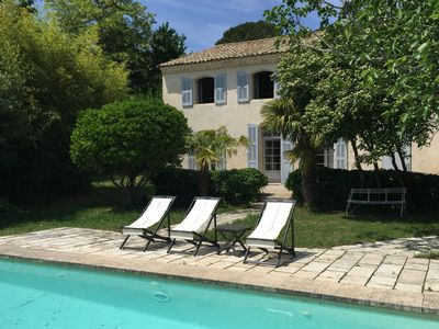 Photo for Lovely bastide with pool 10 minutes south of Aix-en-Provence