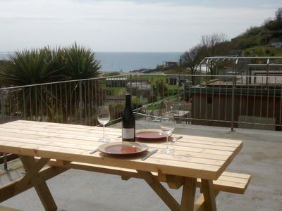 Photo for Stunning Sea Views, Recently Refurbished, 250m From The Beach, All Mod Cons