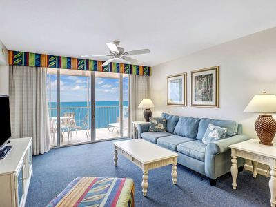 Photo for New Listing, Gorgeous Sunsets, Direct Gulf View Beach Condo, Heated Pool, Free Parking & WiFi!