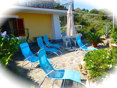 Photo for Castellabate - Apt Basilico – 2 bedrooms – sleeps 6 – sea views – wi-fi -parking