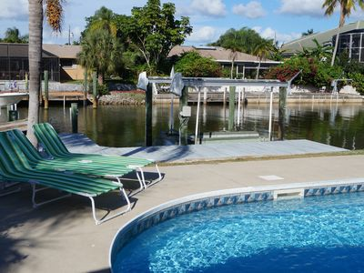 Photo for Waterfront Gulf Access Pool Home Walk To Beach