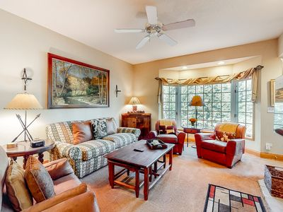 Photo for 2nd floor skier's paradise w/ golf nearby, mountain view, wood-burning fireplace