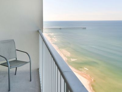Photo for Gulf-front condo w/ 2 lagoon pools, hot tubs, beach service & fitness center!