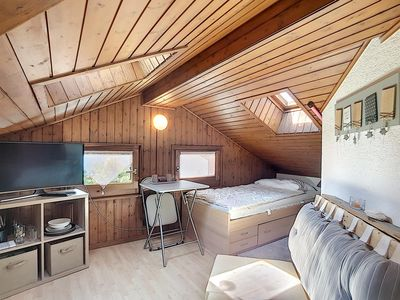 Photo for Nice Bedroom on the 3rd floor, in the centre of Verbier.  Composition :  • Television and little