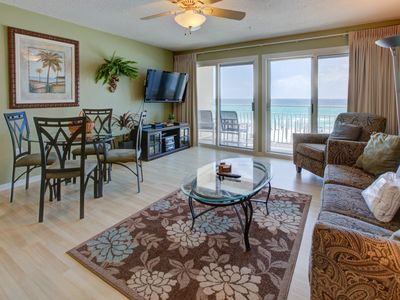 Photo for Lovely Gulf front Condo with Balcony! Grill and Outdoor Shower Onsite! Beach Equipment Included!