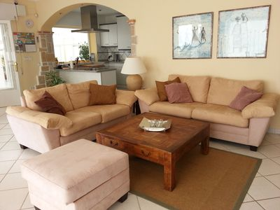Photo for Upscale villa, close to the beach, WiFi, air conditioning, great sea views