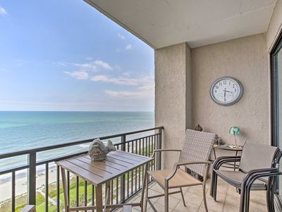 Photo for NEW! Ocean-View Condo w/ Fireplace, Walk to Beach!