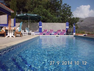 Photo for Villa Of Character sea / mountain with views of the private pool
