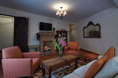 Cozy living room/dining room give you space to entertain your new friends