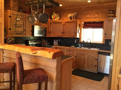 Fully stocked kitchen with all the conveniences