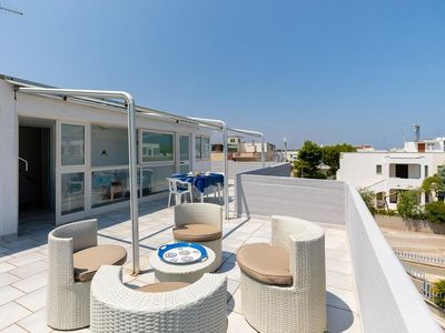 Photo for Holiday apartment Torre Spaccata for 5 persons with 2 bedrooms - Penthouse holiday apartment