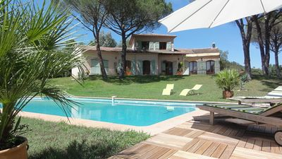 Photo for PEACEFUL VILLA UNDER THE PINS, SWIMMING POOL enclosed grounds 5500m2