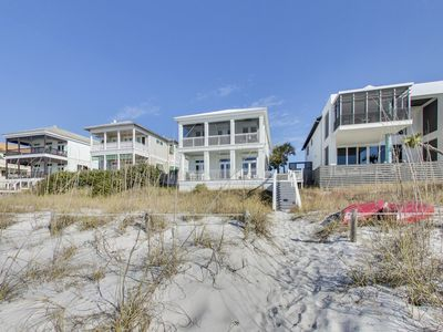Photo for Luxurious White House villa w/ porches, deck, & full kitchen right on the beach!